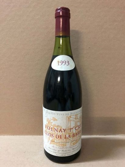6 Blle VOLNAY CLOS DE LA BARRE (Pascal Bouley)...