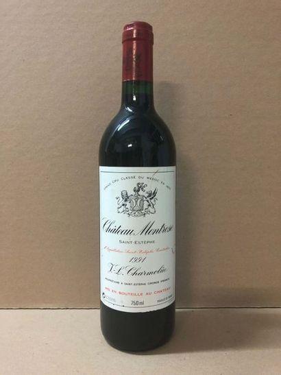 6 Blle Château MONTROSE (St Estèphe) 1991...