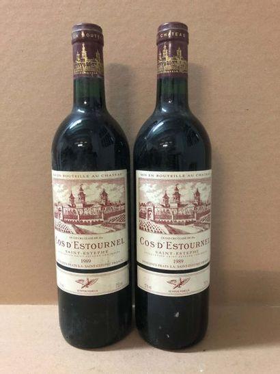 2 Blle Château COS D'ESTOURNEL (St Estèphe) 1989 - Belles / Etiquettes scotchées...