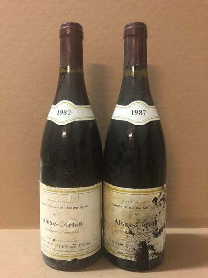 2 Ble ALOXE CORTON (Arnoux Père & Fils) 1987...
