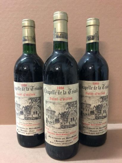 3 Blle Château CHAPELLE TRINITE (St Emilion)...