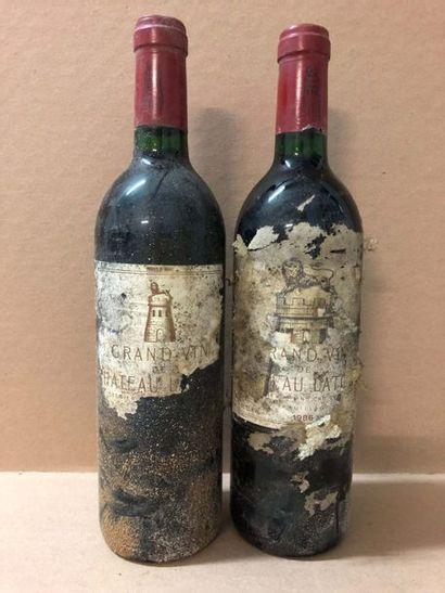 2 Blle Château LATOUR (Pauillac) 1986 - Bons...