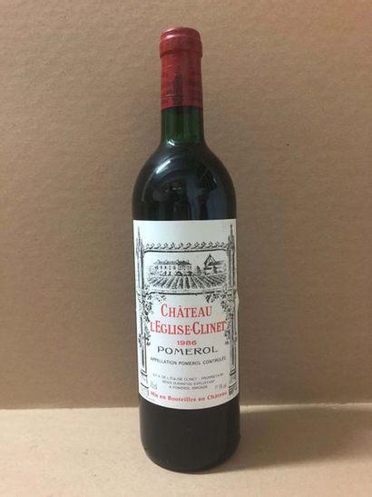 6 Blle Chateau EGLISE CLINET (Pomerol) 1986...