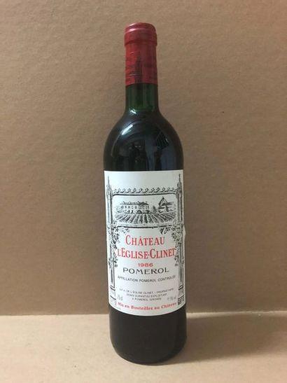 6 Blle Château EGLISE CLINET (Pomerol) 1986 - Très belles