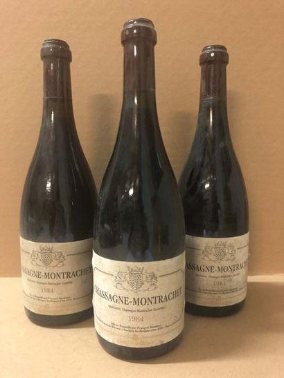 3 Blle CHASSAGNE MONTRACHET ROUGE (F.Martenot) 1984 - Très belles
