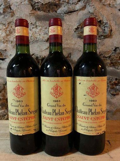 3 Blle Château PHELAN SEGUR (St Estèphe)...