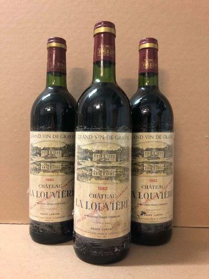 3 Blle Château LA LOUVIERE (Graves rouge)...