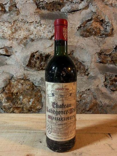 1 Blle Château LABEGORCE ZEDE (Margaux) 1961...