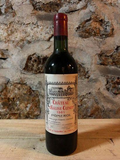 1 Blle Château EGLISE CLINET (Pomerol) 1961...