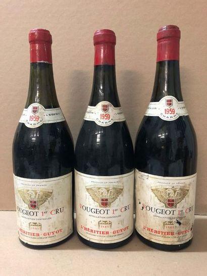 3 Blle CLOS DE VOUGEOT (L'Héritier Guyot)...
