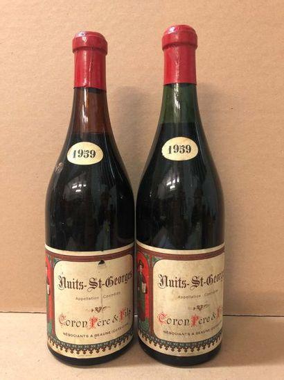 2 Blle NUITS SAINT GEORGES (Coron) 1959 -...