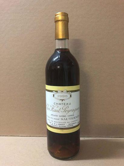 12 Blle Château LAFAURIE PEYRAGUEY (Sauternes)...