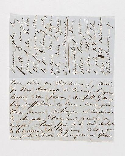 HUGO (Victor). Lettre autographe signée de...