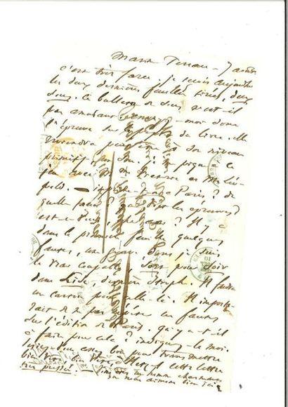 HUGO (Victor). Lettre autographe à Noël Parfait....