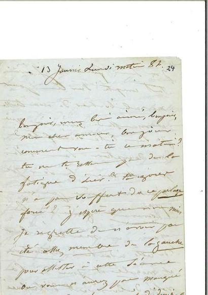 [HUGO]. – DROUET (Juliette). Lettre autographe...
