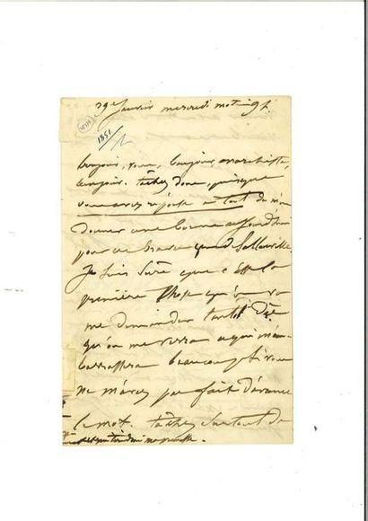 [HUGO]. – DROUET (Juliette). 3 lettres autographes...