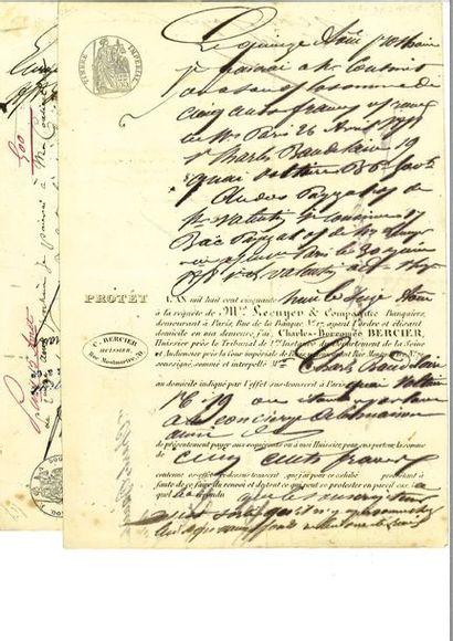 BAUDELAIRE (Charles). Pièce autographe signée....