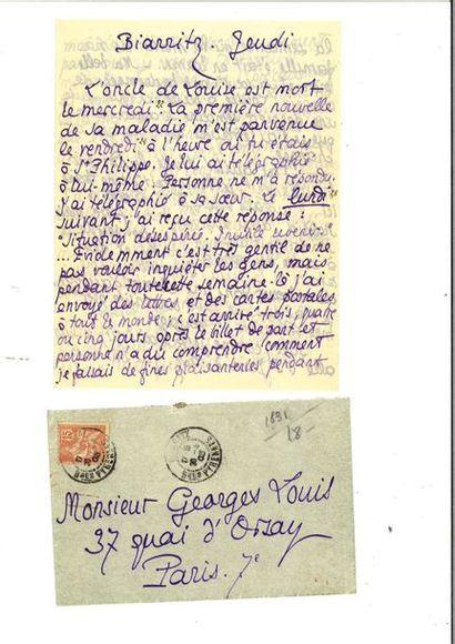 LOUŸS (Pierre Louis, dit Pierre). Lettre...