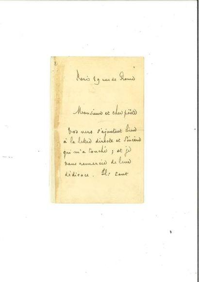 MALLARMÉ (Stéphane). Lettre autographe signée...