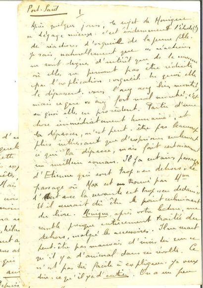MALRAUX (André). Lettre autographe signée...