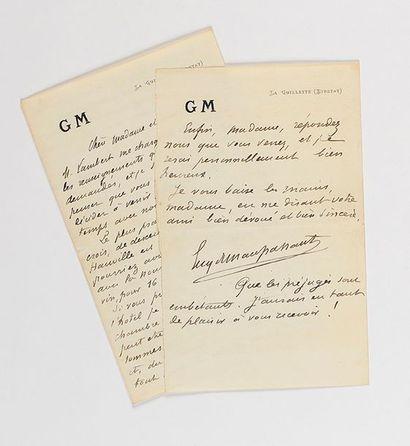 MAUPASSANT (Guy de). Lettre autographe signée...