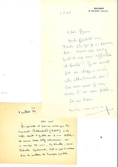 MAURIAC (François). Correspondance de 43...
