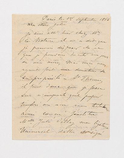 PISSARRO (Camille). Lettre autographe signée...