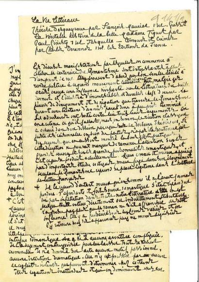 RÉGNIER (Henri de). Manuscrit autographe....