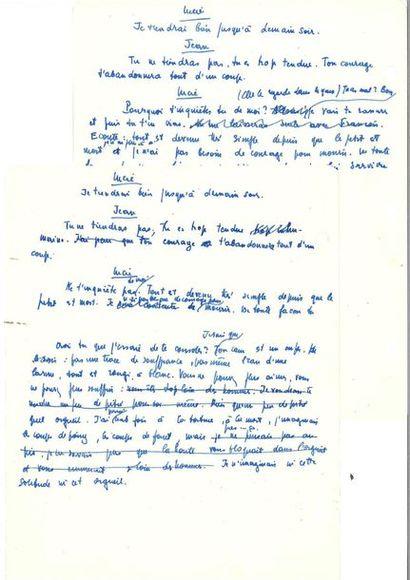 SARTRE (Jean-Paul). Fragments autographes...