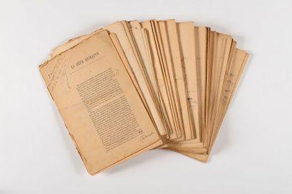 ZOLA (Émile). Épreuves corrigées de son roman La Bête humaine. 45 placards imprimés...