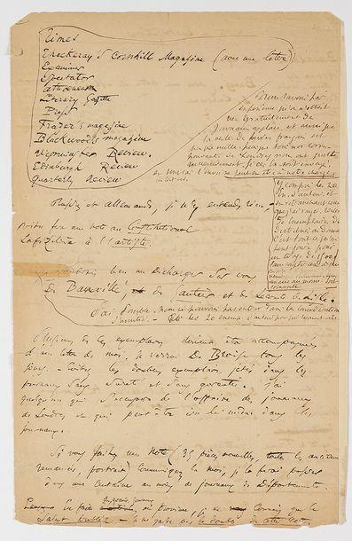 BAUDELAIRE (Charles). Pièce autographe signée...