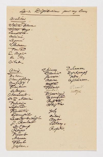 BAUDELAIRE (Charles). Pièce autographe intitulée...