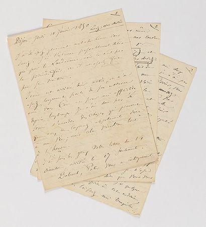 BAUDELAIRE (Charles). Lettre autographe à...
