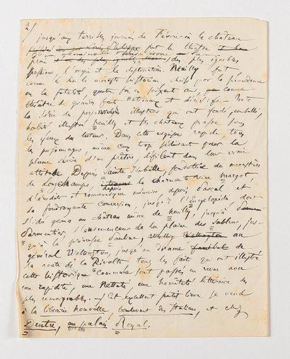 BAUDELAIRE (Charles). Manuscrit autographe....