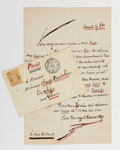 BARBEY D'AUREVILLY (Jules). Lettre autographe...