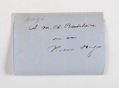 HUGO (Victor). Envoi autographe signé. [14...