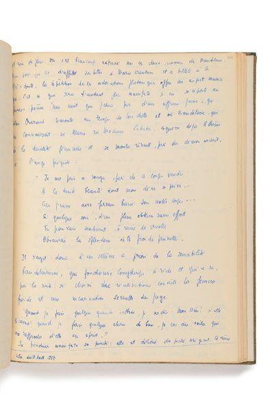 SARTRE (Jean-Paul). Manuscrit autographe de son essai Baudelai re. [1944]. Environ...