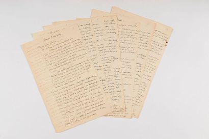 FLAUBERT (Gustave). Manuscrit autographe intitulé « Guerres puniques ». [vers 1845-1846]....
