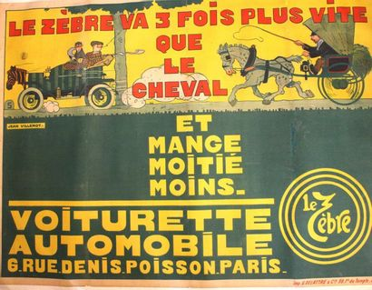 Jean VILLEMOT ( 1880- 1958)  Affiche