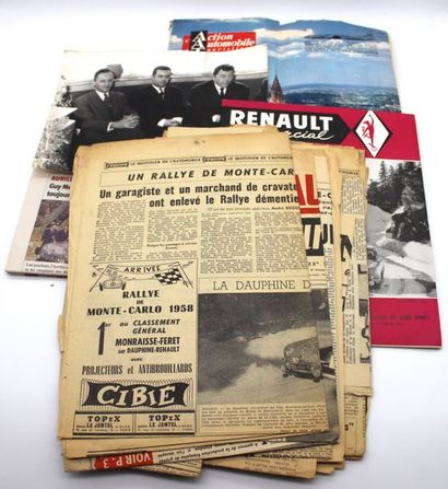 """""""Guy Monraisse- Vainqueur Rallye Monte-Carlo 1958""""  - Broche émaillée reservé aux..."""
