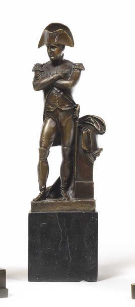« L'Empereur Napoléon Ier » en pied. Bronze...