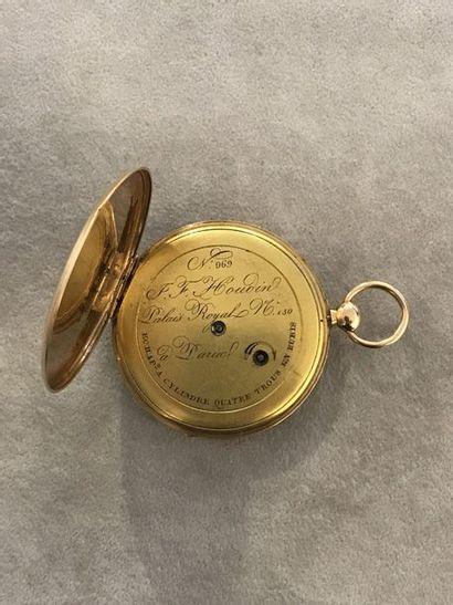 MONTRE DE GOUSSET   Montre de gousset en or jaune signée J. F. Houdin, 'N° 969,...
