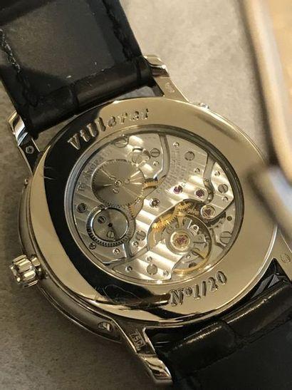 BLANCPAIN modèle Villeret à Quantième perpétuel.  Montre bracelet d'homme de forme...