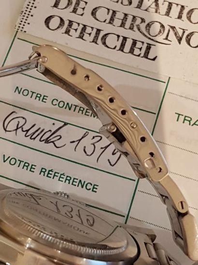 ROLEX SUBMARINER - DATE - réf 1680. n° 3934502 vers 1975.  Montre bracelet de plongée...
