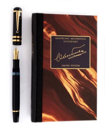 MONTBLANC Meisterstück Edition limitée 1997 Dostoïevski  Stylo plume, résine noir...