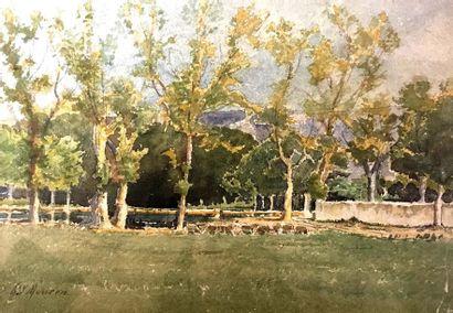 Henri Laurent MOUREN (1844-1926) Paysage...