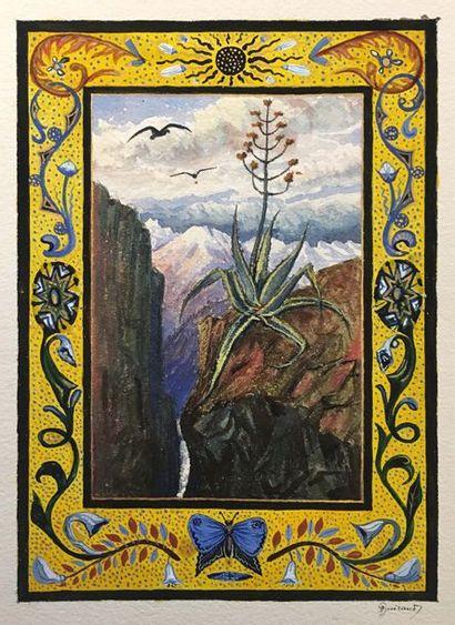 Antoine GUIRAUD (1800-1879) Fleur séculaire...