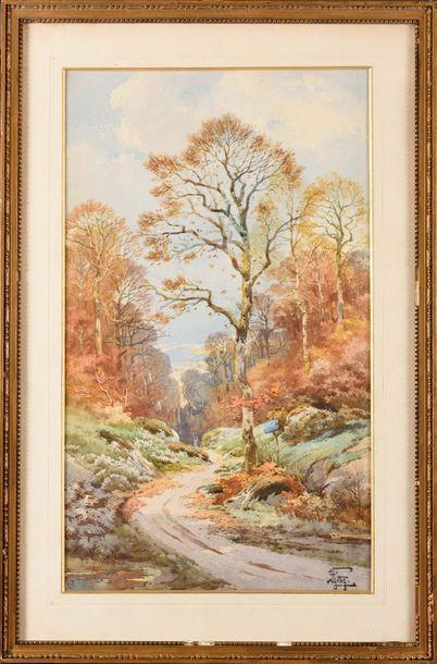 Hippolyte Jean Adam GIDE (1852-1921) Chemin...