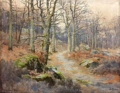 Joseph-Clément-Maxime JEANNOT (1855-?) Forêt...