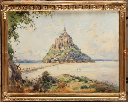 William Georges THORNLEY (1857-1935) Le Mont...